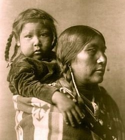 Lakota mother and child
